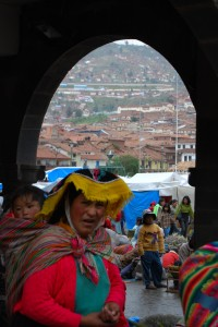 Woman and Child in Cuzco