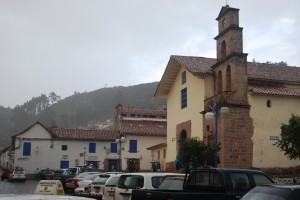 The Church of San Blas in March Rain