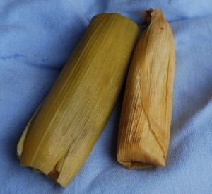 Tamales, salty and sweet, Portal de Belén