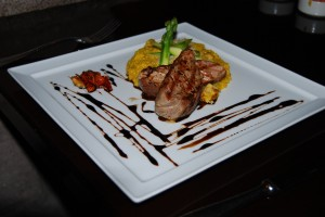 Grilled Pork Tenderloin with Black Quinoa Ragout