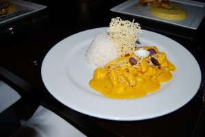 Aji de Gallina with Parmesan Crisps