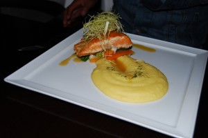 Grilled Trout in a Passion Fruit Infused Wine Sauce