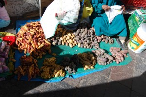 New Potatoes and Ocas, San Pedro Market