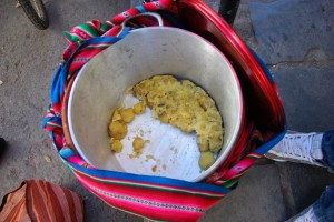 Pot of Papa Helada for Sale, San Pedro Market 