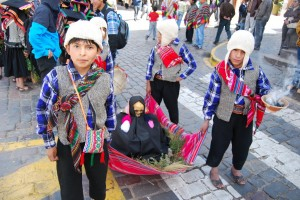 Children Carrying a Representation of an Ancestral Mummy