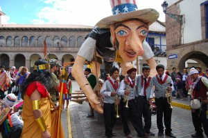 Satyrical Float of Hiram Bingham, Cuzco