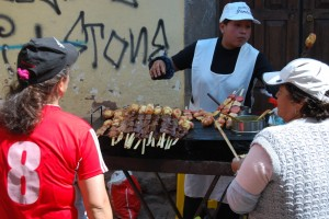 Anticuchos in the Day during a Festival