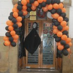 Door Decorated for Halloween
