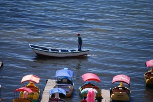 Fisherman, Lake Titicaca