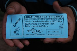 Entrance Ticket for a Pollada