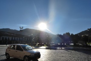 Sun over Cuzco