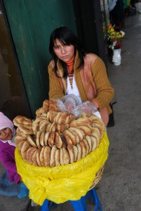 The Casera Sells Five Wheat Breads and One as a Yapa