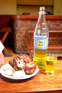 Together: Inca kola and the traditional Cancacho