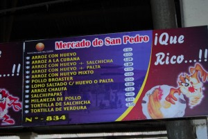 Menu List of Stands Offering Rice and Egg