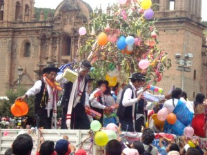 Allegorical Floats in Cuzco Carnival