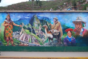 Machupicchu Picture in a Wall