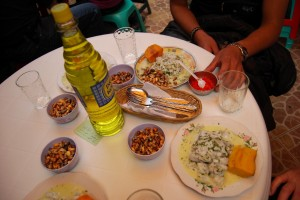 Together Ceviche and Inca Kola