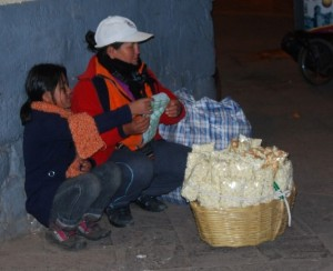 Popcorn on the Street at Night