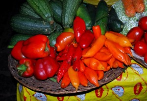 Variety of Hot Peppers