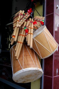 Panpipes and Drums