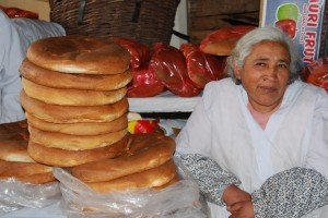 A Woman Selling Chuta Bread