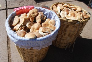 Huaro Bread in Baskets