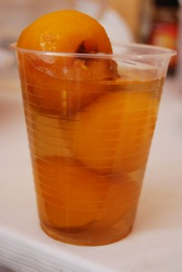 A Glass of Peach Compote
