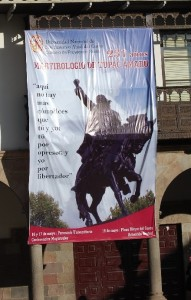 Banner for Tupac Amaru Commemoration