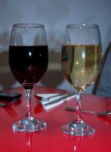 Red and White Wine Goes Well Food