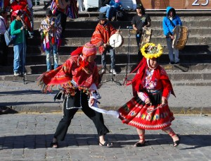 Musicians and Dancers in Cuzco Last Wednesday
