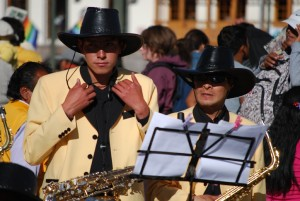 Band Playing in the Plaza during the Octave