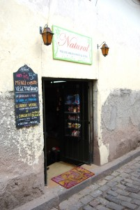 Doorway of Natural Vegetarian Foods and Wines Restaurant