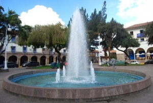 Fountain in the Plaza Regocijo