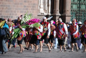 Dancing toward the Cathedral to Accompany the Virgin of Nativity