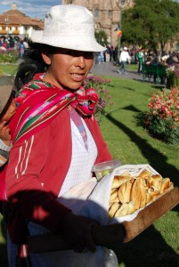 Selling Crispy Empanadas during the Procession