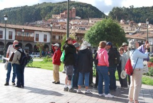 Tourists on the Plaza