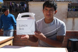 Chef Estrada with a Lunch Box