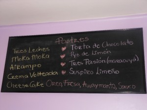 Tres Cafe Menu List