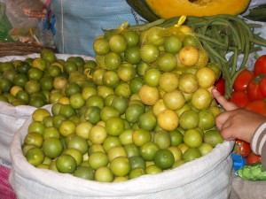 Lemons on Cuzco Markets