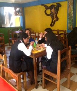 Students Eating Salchichapa After Class