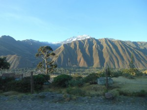View to the Montains in the Sacred Valley