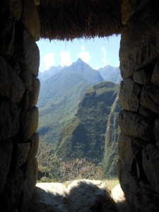 A Mountain View From a Machu Picchu Window
