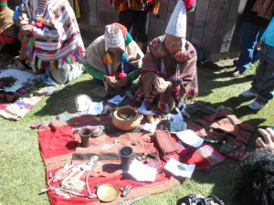 Andean Priests Making an Offering