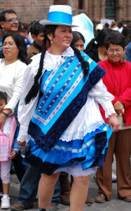 A Cuzco Chola as Presented in Cuzco's Plaza