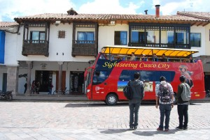 Watching Tourists go by in Cuzco