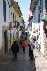 Many People Walking on Procuradores Street