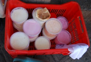 Selling Yoghurt in a Basket