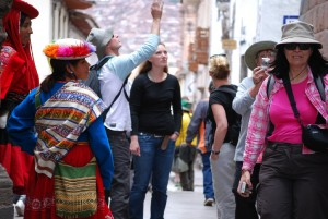 Tourists See the Sights of Cuzco