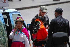 Tourists in Cuzco