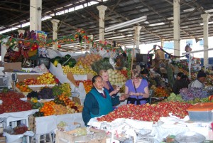 Tourist Buying Fresh Fruit in San Pedro Market